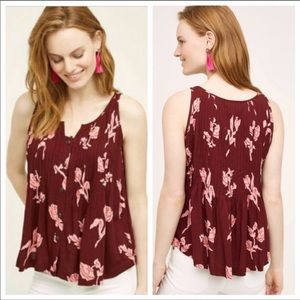 MAEVE {Anthro} Soana Swing Floral Tank Top size 0